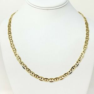 Jewelry - 14k Gold 25.5g Solid Gucci Mariner Necklace 21""